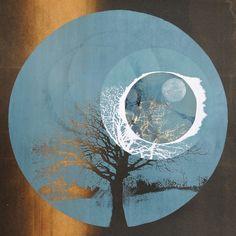Bright Black Night Before, 2013. Screenprint of a tree. Twilight Series. Printmaking by Louisa Boyd.