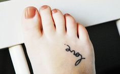 Charming Black Foot Quote Tattoos for Girls - Small Foot Quote... - Tattoo - Cute: