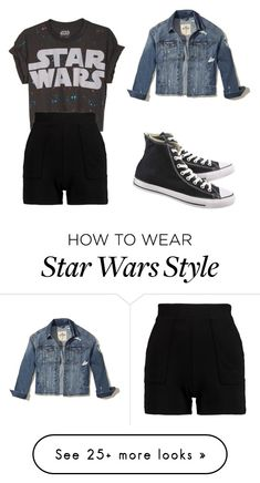 """""""Star Wars geek"""" by ilovedancing706 on Polyvore featuring Converse and Hollister Co."""
