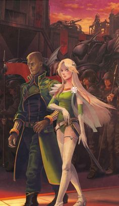 General Leo & Celes in Vector Final Fantasy Vi, Fantasy Series, Dark Fantasy, Fantasy Art, Best Rpg, Fantasy Couples, Disney Kingdom Hearts, This Is My Story, Square Photos