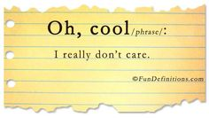 definitions | Fun Definitions - oh cool