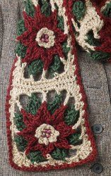 Crochet Poinsettia Scarf - free crochet pattern        MUST MAKE!!!!!!!!!!!!!!!  Or could use for an afghan.