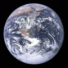 """This famous """"Blue Marble"""" photo of the Earth taken by the crew of the Apollo 17 spacecraft in 1972 is the most widely distributed image in human history according to NASA archivist Mike Gentry. via Neatorama Earth And Space, Earth Day, Planet Earth, Planet Song, Live Earth, Earth Hour, Planet Ocean, What Is Geography, Physical Geography"""