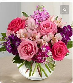 Purchase the beautiful Tranquil Bouquet floral arrangement at Veldkamp's Flowers of Denver Colorado. We offer nationwide same day flower delivery. Beautiful Flower Arrangements, Most Beautiful Flowers, Pretty Flowers, Floral Arrangements, Deco Floral, Arte Floral, Pink And Purple Flowers, Pink Roses, Lavender Flowers