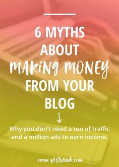 How do you go from making practically nothing from ads all over your blog to earning enough money to pay for your blogging expenses, add to your monthly income, or even turn your blog into your job? It's definitely possible, but probably not the way you i
