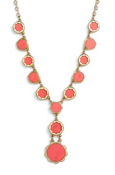 Accessorize with a little color this spring! Kate Spade gets it right with this vibrant statement necklace.