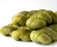 Damsel Plus merino silk hand dyed yarn New Shoots | Artists Palette Yarns
