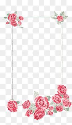 Creative floral border elegant atmosphere