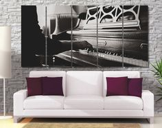 Extra Large B&W Piano Photo Canvas Print High от GiftVilage