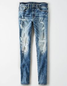 Women Jeans Outfit Ankle Pant Purple Jeans Cropped Leggings Raw Hem Jeans Trendy Maternity Clothes Jeans And Heels Outfit Ripped Knee Jeans, Ripped Jeggings, Ae Jeans, High Jeans, Cropped Jeans, Ripped Denim, Black Skinnies, Denim Pants, Distressed Denim