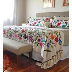 Boho Style Furniture And Home Decor Ideas Designers Guild, Diy Crafts Crochet, Mexican Home Decor, Hand Embroidery Designs, Bedroom Colors, Home Collections, Bed Spreads, Bed Sheets, Living Room Decor