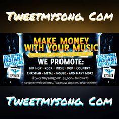 #MakeMoney with your #music  http://tweetmysong.com/premium-member.htm                #electronicdancemusic #edmmusic #Electrohouse #progressivehouse  #dancemusic #trapmusic #futurehouse #tweetmysong #hardstyle #Dubstep #housemusic  #trancemusic #technomusic #hiphop  #RnB #popmusic #Djs #country #Reggaeton #mp3 #promote #promotion #edc #tomorrowland #plur #tomorrowworld #ultramusicfestival #insomniac