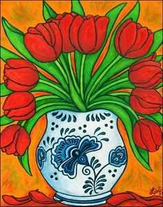 Dutch Delight Tulips by Lisa Lorenz