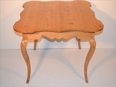 Antique Pine Scalloped Game Table $900.00
