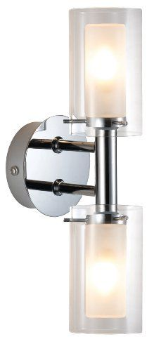 Eglo 88194A Palermo 2 Light Wall Light Fixture, Chrome/Frosted & Clear by Eglo. $112.00. From the Manufacturer                Eglo can give you the trendy living you're looking to reflect in your living space with their large range of designer lights, each one as individual as human beings. Colorful or simple, classically or just different - but in any case - they're always contemporary and modern. This Palmero wall light can be used in many rooms to add style and light.   ...