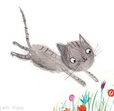 laura hughes: Leaping Kitty sketch.