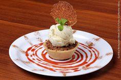 Lugana Trattoria (jantar)  Torta de maçã com sorvete