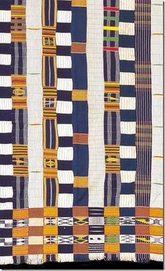 - Very unusual mixed strip Ewe man's cloth with seven different strip designs and exceptionally elaborate borders. African Textiles, African Fabric, African Art, African Patterns, African Prints, African Style, African Women, Textile Patterns, Textile Design