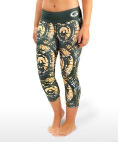 Look at this Green Bay Packers Capri Leggings - Women on #zulily today! Capri Leggings, Women's Leggings, Nfl Gear, Green Bay Packers, Keep Warm, That Look, My Style, Pants, Broncos