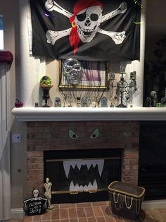 Pirate Halloween Decorations-Fireplace