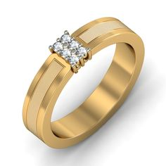 http://www.bluestone.com/rings/the-hera-ring-for-her~603.html  Sometimes, less is more. A simple gold band reflecting two textures of precious gold, set alight by a stunning centrepiece, this stunning ring, made especially for Her, is simple yet priceless, just like your love.