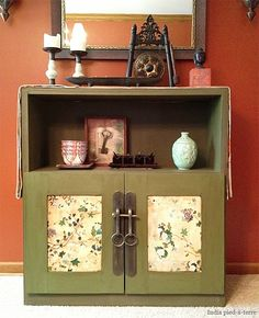 "DIY Cabinet Makeover: From Danish Modern to ""Antique"" Chinese  wonderful small gong"