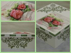 3D Decoupage Roses Multi Purpose Box by CLVLArtsBrazil on Etsy, $51.00