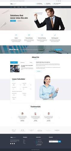 FinExpert - Financial Advisory Company Responsive WordPress Theme #63599