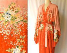 c20546cb7d RESERVED --- Vintage 1940s Silk Kimono   Japanese Robe--- RESERVED