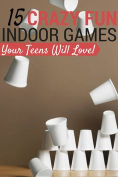 These fun indoor games for teens are easy to set up, don't cost a lot and are teen-tested and approved! Most of them use common household items too.