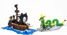 Plus-Plus Pirate Ship and dragon #PlusPlus #TTPlusPlus