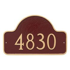 Montague Metal Products Lexington Standard One Line Arch Address Sign Plaque Finish: Hunter Green/Silver