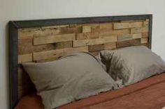 Recycled wood headboard