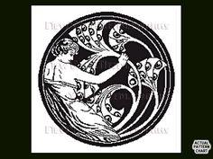 Art Nouveau Pattern Cross Stitch Pattern Art by NewYorkNeedleworks