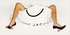 Juergen Teller photograph for a Marc Jacobs ad. The feet and legs belong to Victoria Beckham.