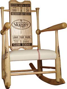 Original Custom Made Genuine Baseball Bat Rocking Chairs | Supple Rockers