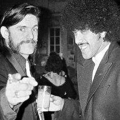 """hiroag: """"Lemmy & Phil Lynott """""""