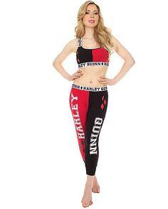 Harley Quinn Bandeau Jogging Suit - Spencer's