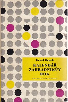 Gorgeously realized uncredited cover for a Karel Čapek book. Love the use of differently oriented half circles. Brilliant. And the colours!