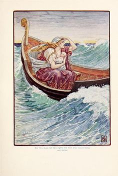 For two days and two nights the boat was and hither and thither - Walter Crane