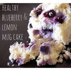 Healthy Guilt-free Blueberry and Lemon Mug cake