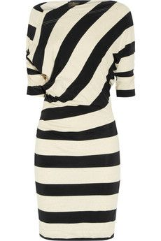 Vivienne Westwood Anglomania Arianna striped jersey dress+|+THE OUTNET