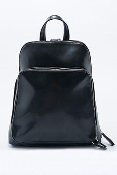 Deena & Ozzy - Sac à dos noir zippé avec poche à déplier - Urban Outfitters