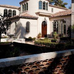 Multi Colored Barrel Tile Roof
