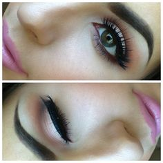 """#ShareIG soft hues  wearing: orb (lid) brown script (crease) handwritten (outer corner) """"snob"""" on my lips and lashes are """"noir fairy"""" by @Allison House! of Lashes #maccosmetics #ilovemaciggirls #makeup #houseoflashes #anastasiabrows #comeoncloserxoxo"""