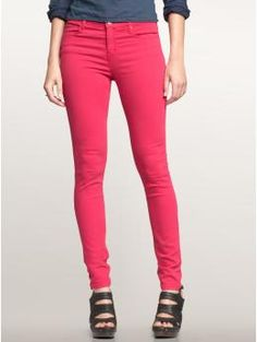 Saw these watermelon-colored jeggings yesterday and now I'm sorry I didn't snatch them up.