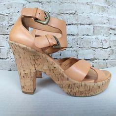 19cd7d6992d Kork Ease Womens Shoe Size 10 High Heels Cork Sandals Pumps Tan Leather  Neutral  KorkEase