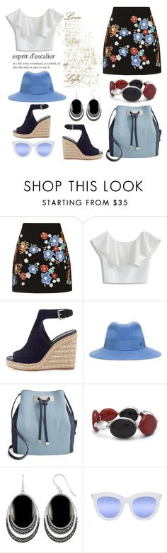 """Love Life"" by hastypudding ❤ liked on Polyvore featuring Topshop, Chicwish, Prada, Maison Michel, INC International Concepts, Chico's, Quay, trending, espadrilles and Fedora"