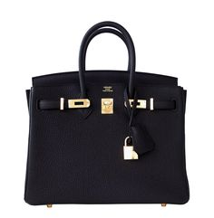 #Hermes #Birkin #Bag Black Togo Gold Hardware