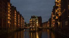 Hamburg, Stadt, Nacht, Lichter - Kostenloses Bild auf Pixabay